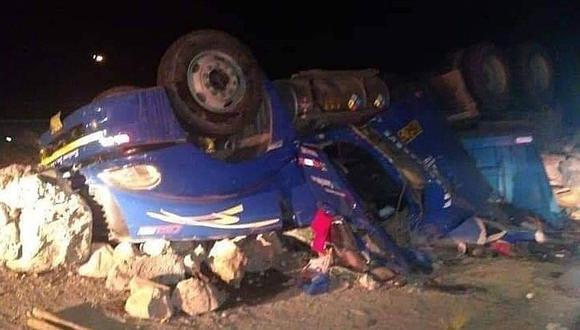 Menor fallece en accidente de tránsito en la vía Arequipa-Puno