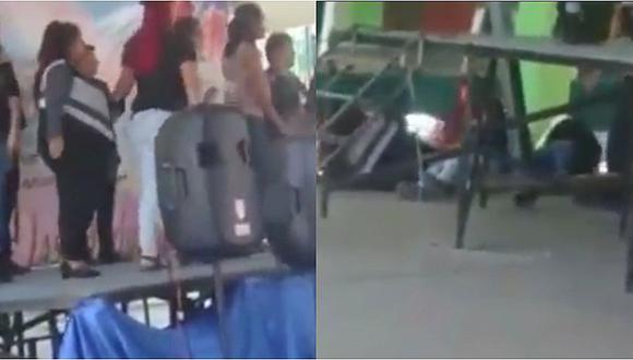 Colegio organizó baile por el 'Día de la Madre' y casi termina en tragedia (VIDEO)