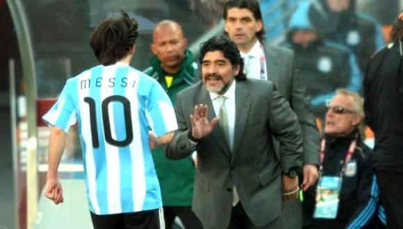 Maradona se pronuncia sobre relación entre Messi y Barcelona. (Prensa Libre)
