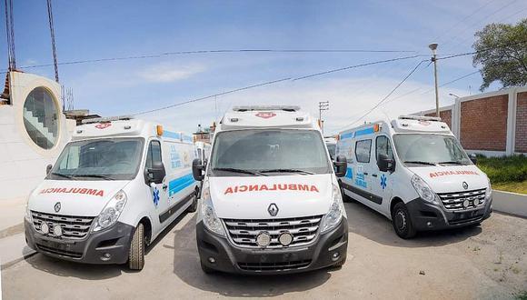 Ambulancias adquiridas por el GRA circulan sin documentos por Arequipa