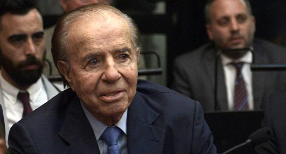 Imagen del expresidente de Argentina, Carlos Menem. (AFP / JUAN MABROMATA).