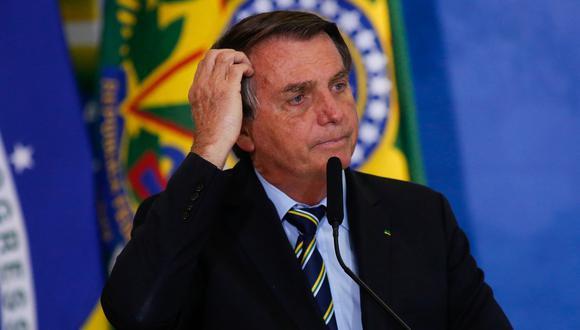 El presidente de Brasil, Jair Bolsonaro, se refirió al contexto político que se vive en Perú.   Foto: AFP.