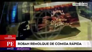 Rímac: Delincuentes roban remolque de comida rápida y dueño pide ayuda (VIDEO)