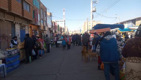 En el sector de Las Mercedes se observó aglomeración de personas. (Foto: Feliciano Gutiérrez)