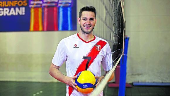 Eduardo Romay, capitán de la selección masculina de vóley. (Foto: JESUS SAUCEDO OLORTEGUI / GEC)