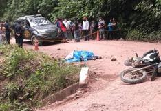 Delincuentes asesinan a uno y disparan a otro que los sorprendió robando moto en Satipo