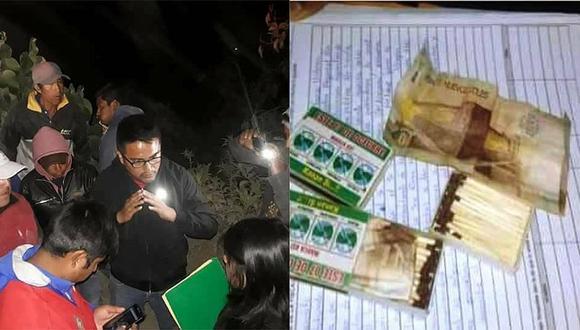 Quillo: Detienen a ocho personas por entregar dinero en cajas de fósforo