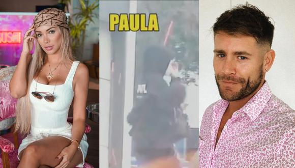 Paula Manzanal y 'Pancho' Rodríguez fueron vistos saliendo de sus departamentos. (Foto: Instagram @paulamanzz/@panchitor_ / Captura Willax TV)