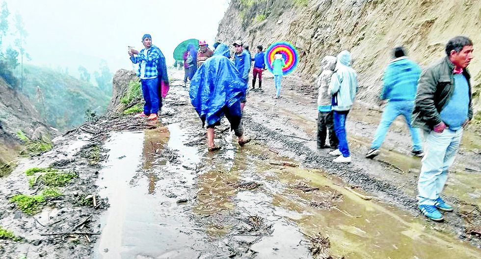 153 distritos en riesgo por las lluvias