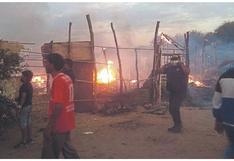 Incendio deja 60 familias damnificadas en Sullana