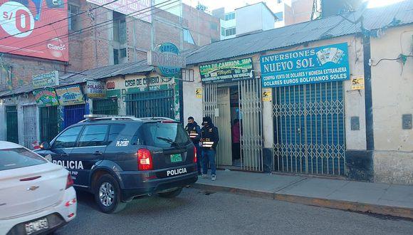 Policías frustran asalto a casa de cambios en pleno centro de Juliaca