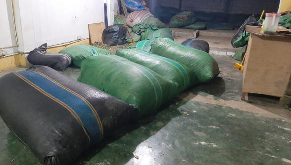 Cusco: FFAA intervienen a tres personas e incautan más de 400 kilos de hoja de coca en el Vraem (Foto: CCFFAA).