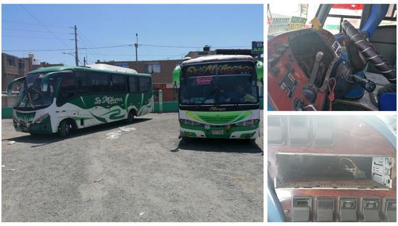 Atraco se registró en el paradero de Cartavio donde se encontraban los dos vehículos. (Foto: Televalle Cartavio)