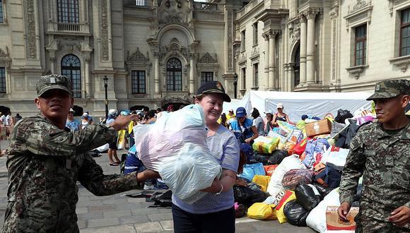 Donaciones para damnificados superan las 200 toneladas