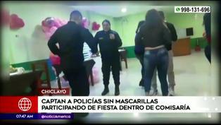 Captan a policías festejando dentro de comisaría y ninguno utiliza mascarilla (VIDEO)