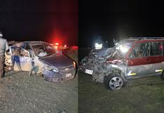 Cinco heridos deja violento choque de vehículos en la vía Juliaca-Cusco