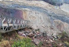 Cerro tapa puente y deja sin comunicación a provincias altoandinas de Huánuco