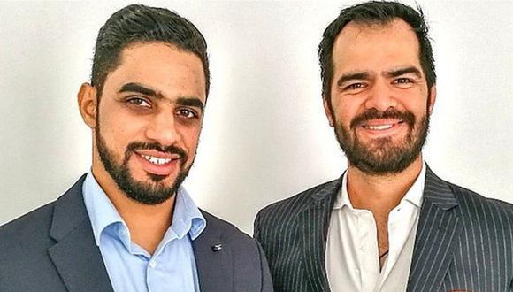 Empresario árabe Yaqoob Mubarak y su socio mexicano, Gilberto Rosas.