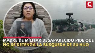 Madre de militar desaparecido tras accidente de helicóptero pide que no se detenga la búsqueda de su hijo