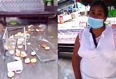 Cusco: vendedora denuncia que extranjero destrozó su puesto por no pagarle cupo (VIDEO)