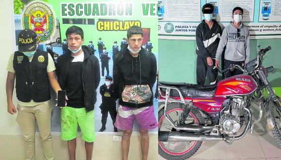 La Policía capturó a seis supuestos miembros de bandas delictivas que hacían de las suyas en diversos lugares.