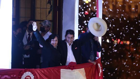 Pedro Castillo y Dina Boluarte ganaron la segunda vuelta electoral. (Foto: GEC)