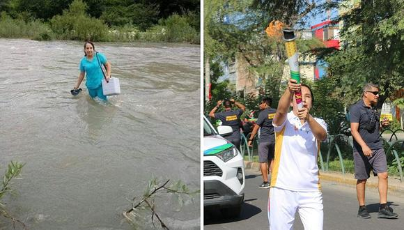 La enfermera que cruzó un río para ayudar a un bebé llevó la Antorcha Panamericana
