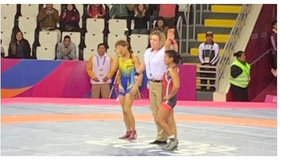 Lima 2019: Thalia Mallqui ganó medalla de bronce en lucha (VIDEO)