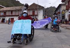 Personas con discapacidad de Huancavelica piden respetar el 1% de presupuesto a autoridades