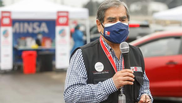 Ministro Óscar Ugarte afirma que no se intervendrá Arequipa ante incremento de contagios. (Foto archivo: Twitter @Minsa_Peru)