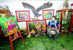 Crisis afecta a pintores  del valle del Mantaro  que  ahora exponen  sus trabajos por redes sociales