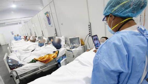 Ica: Trasladan a 80 pacientes COVID-19 a nuevo y moderno ambiente temporal del Hospital Regional de Ica. (Foto Gore Ica)