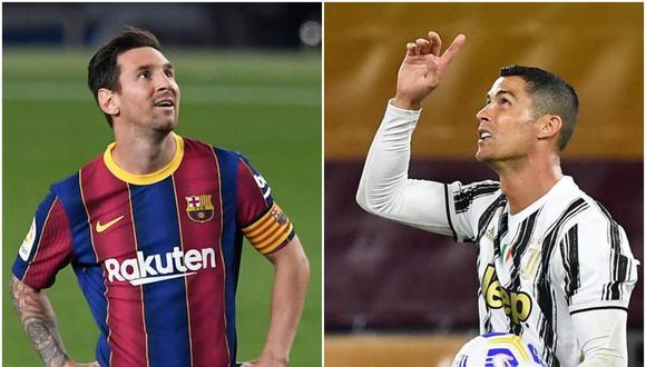 La reacción de Juventus por el duelo entre Cristiano Ronaldo y Lionel Messi en Champions League. (Foto: AFP)