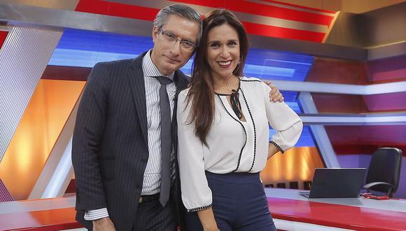 Verónica Linares se conmueve al ver reencuentro entre Federico Salazar y Katia Condos. (Foto:GEC)