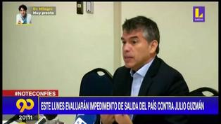 Julio Guzmán: impedimento de salida del país en su contra será evaluado el lunes 21 (VIDEO)