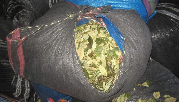 Incautan hoja de coca valorizada en 3 mil soles  que era trasladada en escala