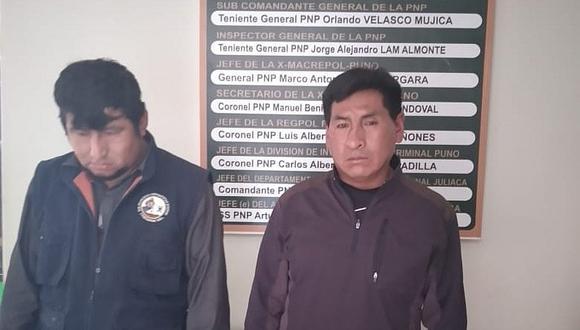 Detienen a dos presuntos estafadores en Juliaca