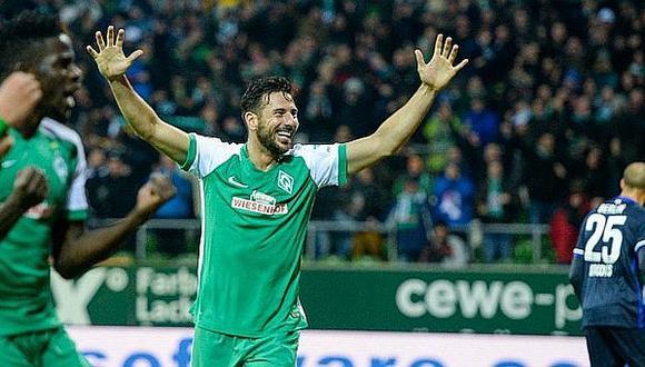 El 'Bombadero de los andes' es un ídolo en el Werder Bremen.