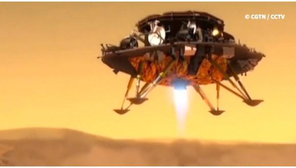 China logra posar con éxito pequeño robot en Marte. (Foto: AFP)