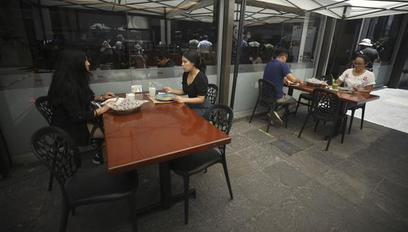 El Gobierno anunció que se implementó 42 restaurantes con terrazas en Lima y el Cusco. (Foto: Britanie Arroyo / GEC)