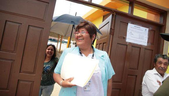 Secretaria regional del Sutep Tacna, Rossana Reinoso Guillermo. (Foto: Correo)