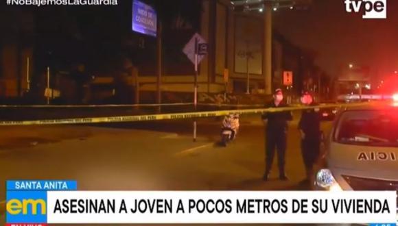 El crimen fue perpetrado, según los testigos, por un sujeto y una mujer. (TV Perú)
