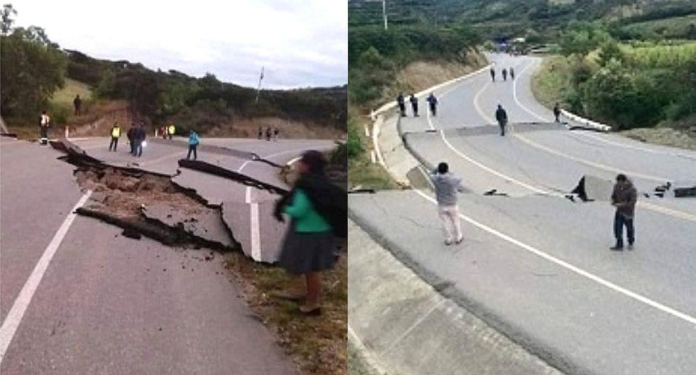 Así quedó la carretera Cajabamba-Cajamarca tras terremoto de magnitud 8.0 en Loreto (VIDEO Y FOTOS)