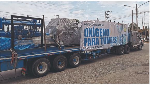 El gobernador Wilmer Dios Benites detalla se producirán 300 balones de oxígeno a diario, de 10 metros cúbicos cada uno. Agrega que se está realizando un inversión de S/ 4´533,581.