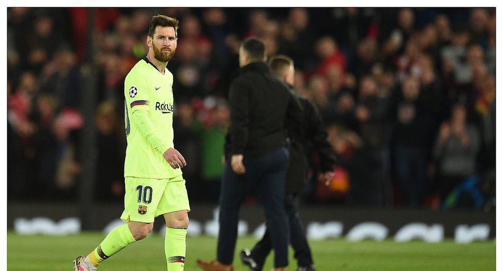 Hincha de Liverpool se burló de Lionel Messi por la eliminación de la Champions League (VIDEO)
