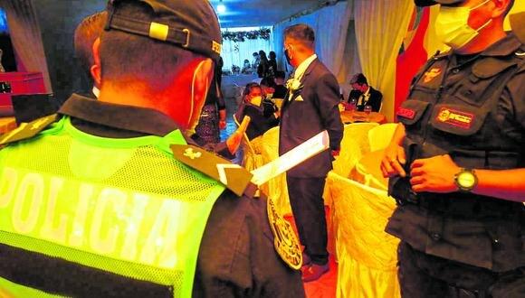 Infractores apenados por el incidente en el que debió ser uno de los mejores días para los recién casados en El Tambo.