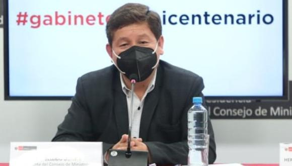 Guido Bellido juró como presidente del Consejo de Ministros el 29 de julio. (Foto: PCM)