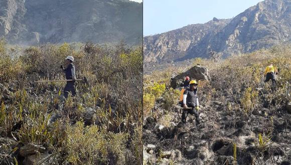 Cusco: Incendio forestal en el distrito de Machu Picchu logró ser controlado tras seis días