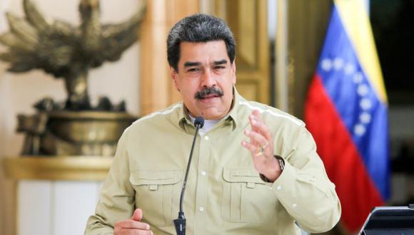 Fotografía cedida por prensa de Miraflores donde se observa al presidente venezolano, Nicolás Maduro, participar en una reunión con miembros del gabinete ejecutivo este domingo en Caracas. (EFE/Prensa Miraflores).