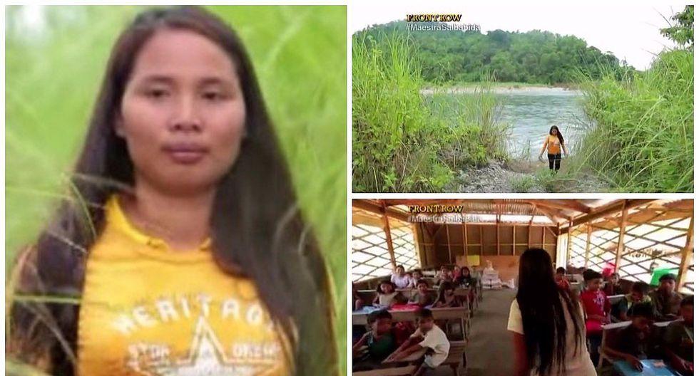 Maestra cruza cinco ríos y camina más de dos horas cada día para dar clases (VIDEO)